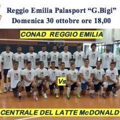 Serie A2M: in trasferta a Reggio Emilia