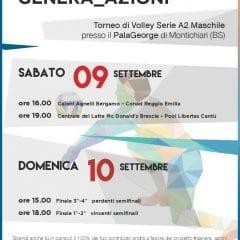 Quadrangolare al PalaGeorge per il Trofeo Genera_Azioni del 9/10 settembre