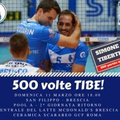 La sfida con Roma è la partita numero 500 in serie A di capitan Tiberti: impossibile mancare!