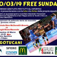 Free Sunday: gli sportivi gratis al San Filippo!