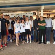 Il saluto agli sponsor all'Arena Beach